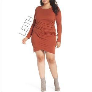NWT Leith Spice wrap stretch envelope dress 3X